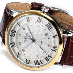 Image 5 - Rome numéro mode hommes gagnant haut marque or Sport montres auto vent automatique calendrier mécanique en cuir montre horloge