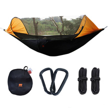 Multiuse Portable Hammock Camping Survivor ultralight Hammock with Mosquito Net Stuff Sack unnel Shape Swing Bed Tent