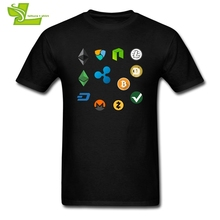 T Shirts 3XL Bitcoincash Fork BIT BTC ETH Bcc BTG LITE Mining Crypto Currency Funny T-Shirts Male Cotton Short Sleeve Tees Men