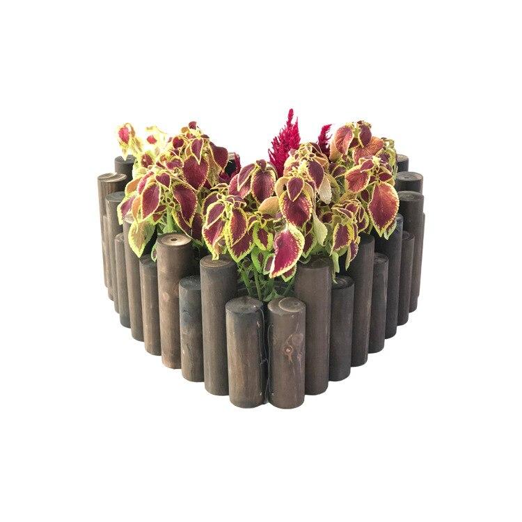 Наружное украшение для сада fenc садовый забор Балконный садовый бордюр деревянный забор Рождественская елка виниловый забор растительные колья - 5