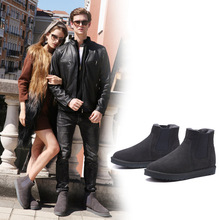 Soft, warm and comfortable winter Genuine Leather mens snow boots leather fabric wool lining high help woman