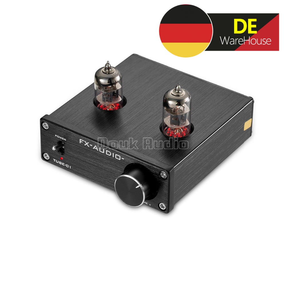 FX-AUDIO TUBE-01 Mini Preamps 6J1 Tube Amplifier Buffer Hi-Fi DAC Audio Preamplifier With Red LED