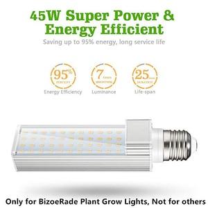 Image 3 - 220V E27 Kweeklampen Lamp 45W Volledige Spectrum Sunlike Groeiende Lamp Daglicht Vervanging Groeien Lamp voor Planten gloeilamp