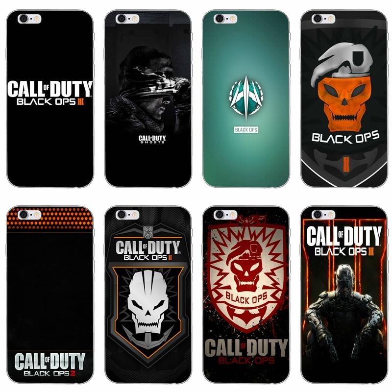 Laumans Call Of Duty 2 Black Ops sottile Molle del silicone cassa del telefono Per il iphone 4 4 s 5 5 s 5c SE 6 6 s plus 7 7 plus 8 8 più di X