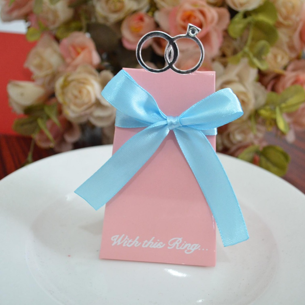 50pcs white diamond ring candy box for wedding invitations ...