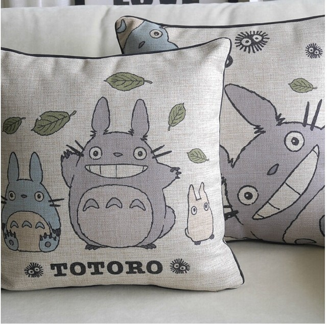 Studio Ghibli My Neighbor Totoro – Cotton Plush Cushion Pillow Cover 45*45cm – 2 Styles Available