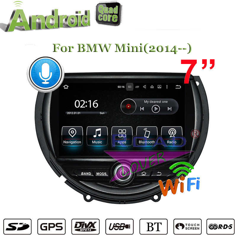 Roadlover Android 7.1 Car Media Center GPS Navigation Video For BMW Mini 2014- Player Stereo 2+16G Quad Core Radio Player NO DVD