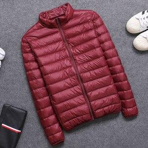 Image 3 - 2019 frühling/Herbst Männer Nehmen Jacken Mode Leichte, Tragbare Stehkragen Plus Größe 5XL Männliche Ente Unten Mäntel Freiheit verkauf