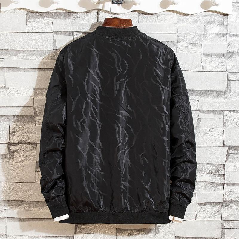 Otoño Los Hombres Cómodas Moda Impresión Y De Casual Chaquetas Transpirables Black Primavera Abrigo Hombres TZqwp5qa