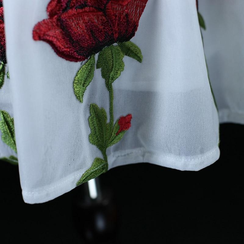 Marque mesh emb rose fleur maman filles vacances plage robe famille vêtements soirée robe mère et fille robes d'été - 5