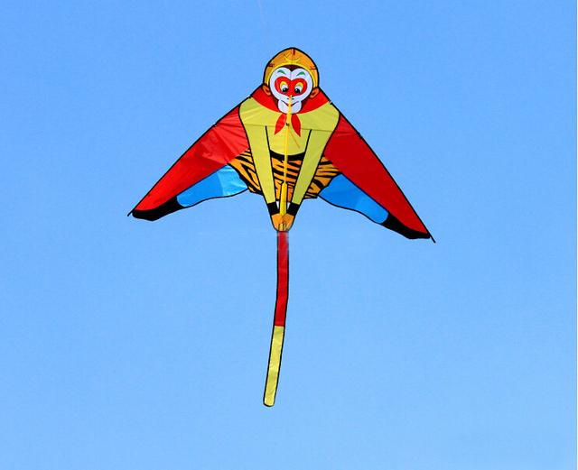 Envío de la alta calidad rey mono kite con mango línea Sun Wukong exterior juguete volador nylon ripstops kite surf kite pulpo