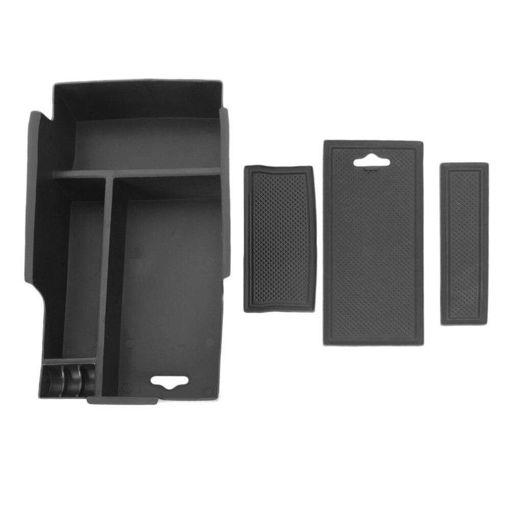 Легко установить ABS Материал автомобиля центральный подлокотник коробка для хранения Контейнер Лоток подходит для Toyota Camry 2012-2016 черный
