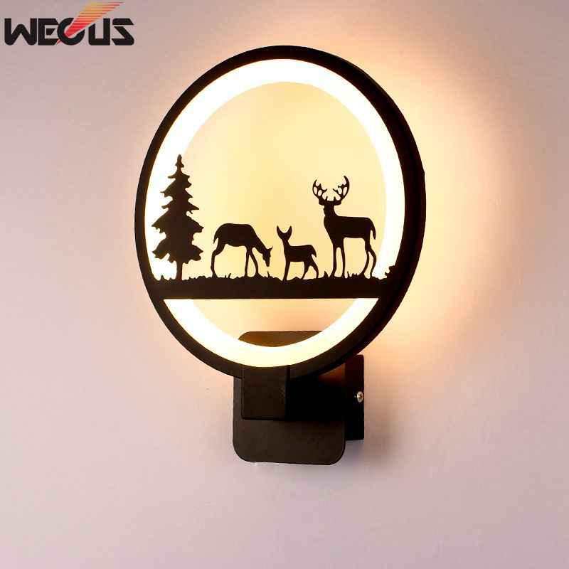 [WECUS] 15W LED Wall Lamp Modern Creative Bedroom Beside Wall Light Indoor Living Room Dining Room Corridor Lighting Decoration