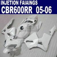 Injection factory fairings for Honda all white 600 RR fairing 2005 2006 CBR 600RR CBR600RR 05 06 body repair parts & seat cowl