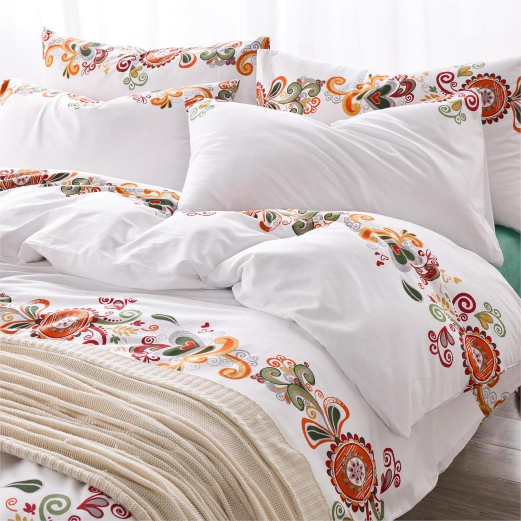 Cotton New Printing Flower Bedding Set Fashion Bed Sheet