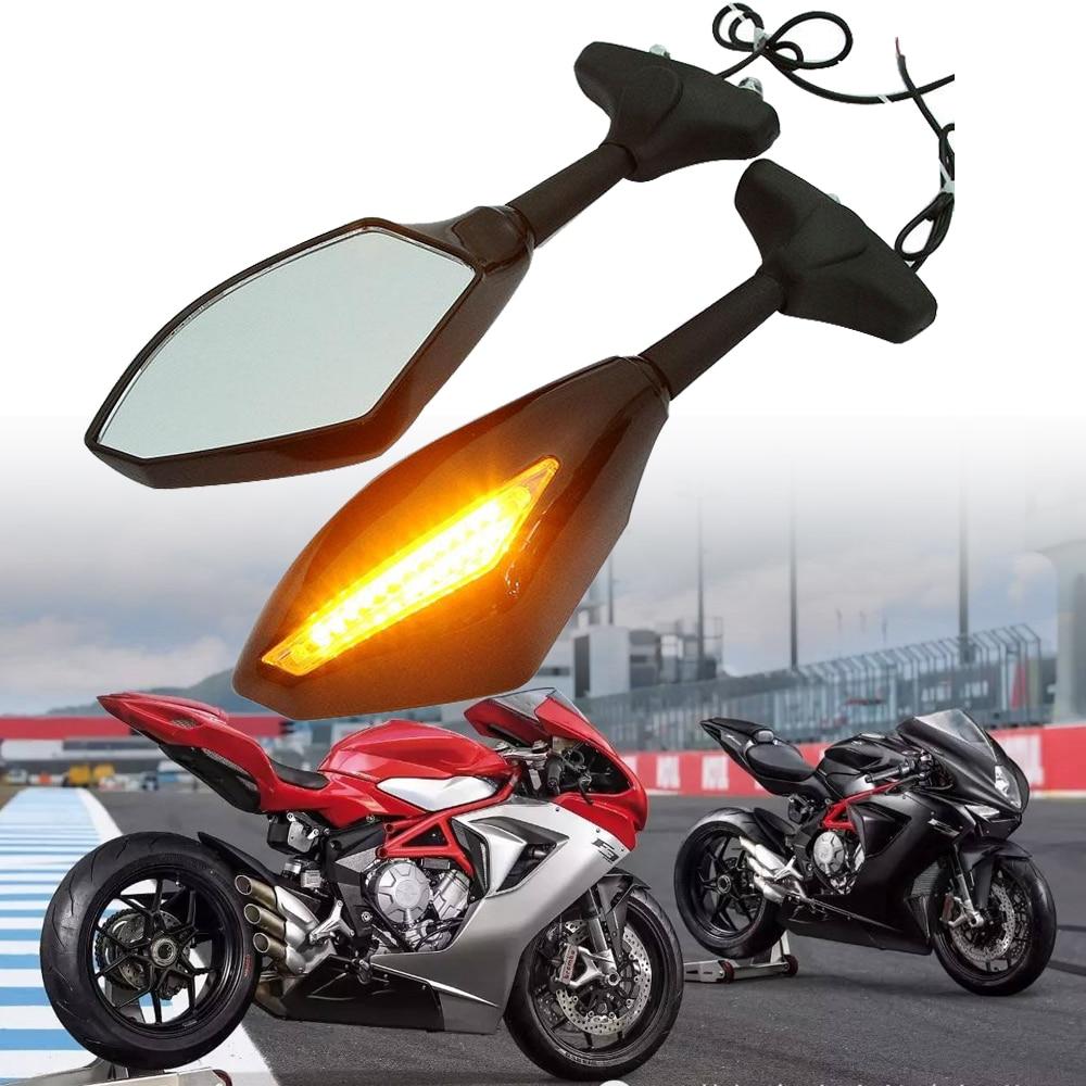 Motorcycle Indicator Turn Signal Side Mirror Rear View Street For Suzuki GSX-R 600 750 GSXR 2001 2002 2003 2004 2005