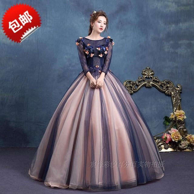 Scoop Purple Sweet 16 Dresses Masquerade Ball Gowns Sheer Lace Tulle ...