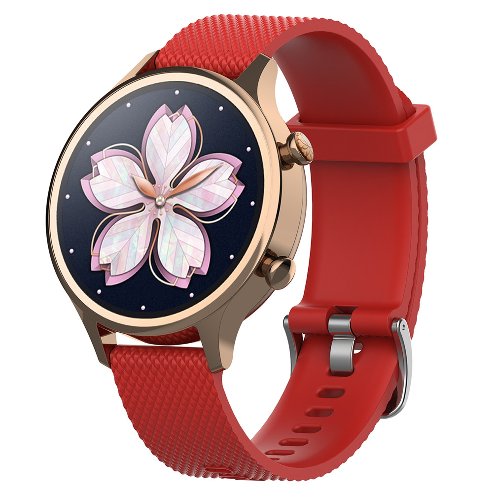 18mm Silicone Strap Watchband for Ticwatch c2 Smartwatch Rose Gold Version Replacement Women 39 s Wristband Bracelet Bands in Smart Accessories from Consumer Electronics