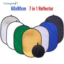 TRUMAGINE 60x90CM 7 In 1  Portable Collapsible Light Oval Reflector For Photographic Studio Reflector With Carry Bag