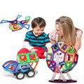 Mini 121 PCS Magnetic Designer de Construção Iluminar Tijolos Blocos de Construção de Brinquedos Educativos para Crianças DIY Plástico Técnica Magnetic