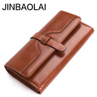 Fashion Women Men Genuine Cowhide Leather ID Credit Card Holder Bifold Purse Clutch Wallet Pocket Pouch Zipper Female Wallet Bag