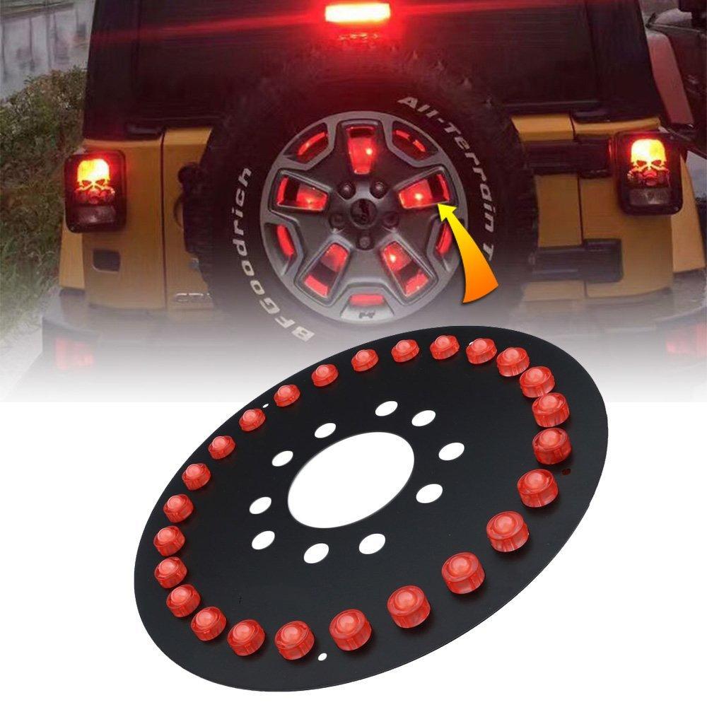 Spare Tire Light LED Third Brake Lights for Jeep Wrangler 1986-2017