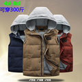 Nueva llegada del Otoño y El invierno de algodón acolchado hombres chaleco masculino floja super Grande kaross prendas de vestir exteriores más tamaño 4XL 5XL 6XL 7XL 8XL