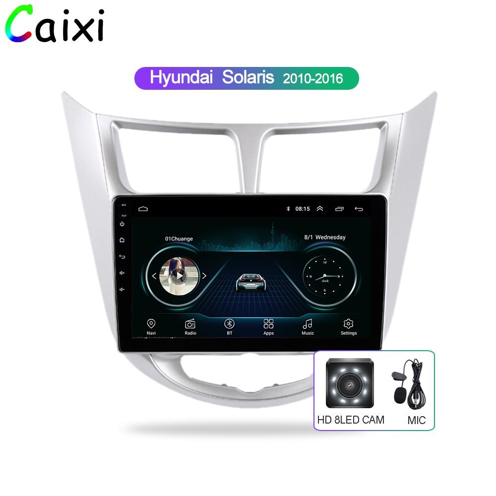 CAIXI autoradio multimédia lecteur vidéo Navigation GPS voiture Android pour Hyundai Solaris Accent Verna 2011 2012 2013 2014-2016