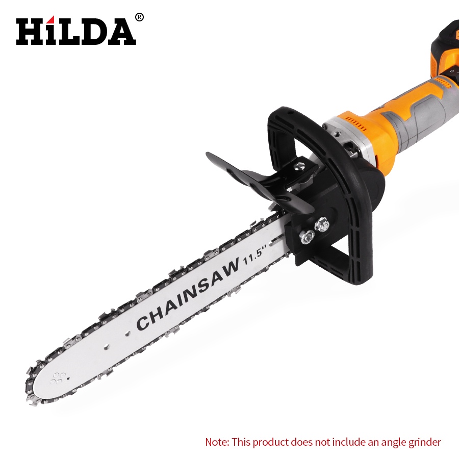 HILDA Multifunktions Elektrische Kettensäge Adapter Konverter Halterung DIY Set Für 11,5 ''Elektrische Winkel Grinder Holzbearbeitung Werkzeug