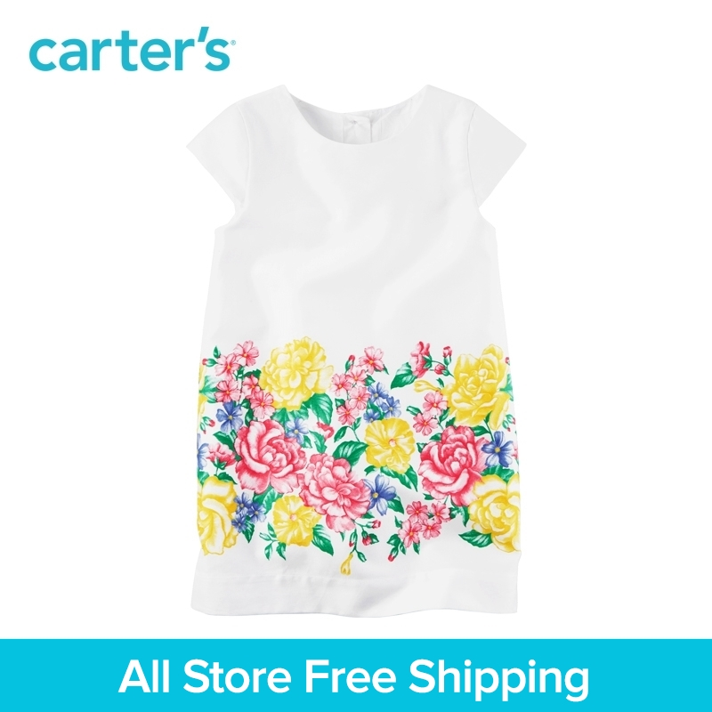 Carters 1pcs baby children kids Sateen Floral Shift Dress 251G290,sold by Carters China official store