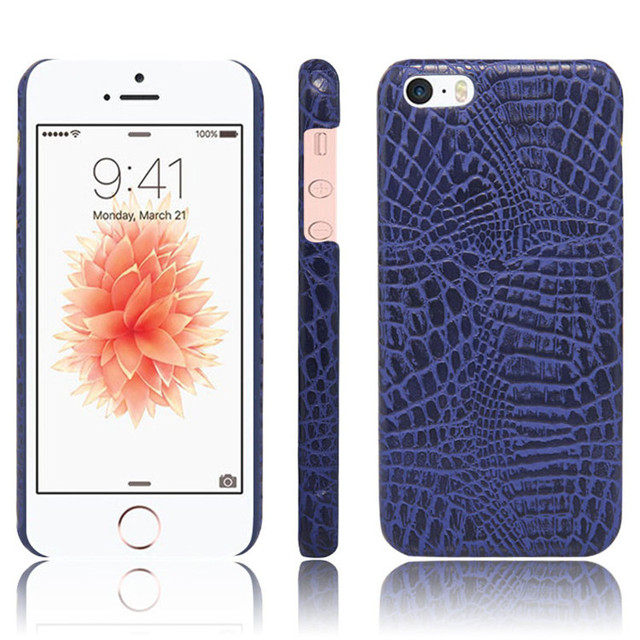 low priced 07591 64fb8 For iPhone 5 5S 4.0inch phone bag case Luxury Crocodile Skin PU leather  Protective Case Cover For iPhone SE-in Half-wrapped Case from Cellphones &  ...