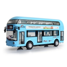 Alloy double tour bus air-conditioned bus city bus model children back sound and light  toy car sound city 2018 sunday