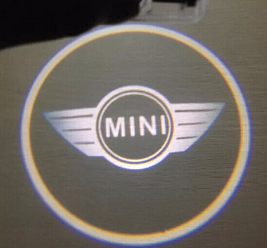Led Door Warning Light With Projector Logo For Mini All Models Mini