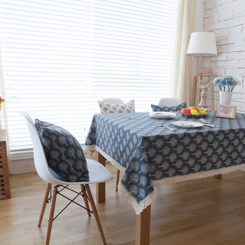Lovely Fashion Pure Cotton Linen Table Cloth Small Fresh Dinner Table Cloth  Antependium Cloth Tea Tablecloth Christmas