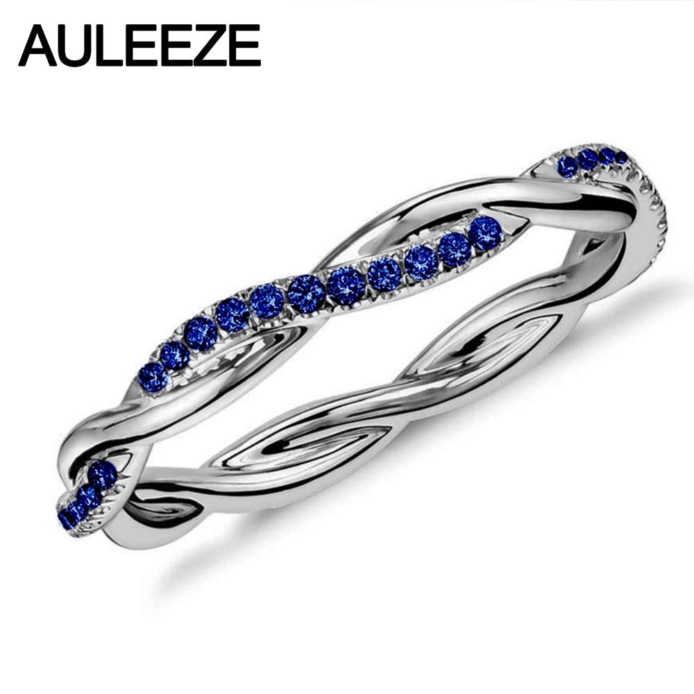 Чистый 925 стерлингового серебра 18 К Белый позолоченный кольцо для Для Женщин Проложить сапфир настоящей жемчужиной Обручение кольцо элеган