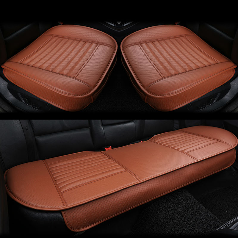 5 Seat 3D Leather Car Seat Cushion Bamboo Charcoal Single Driver Front Back Rear Seat Cover
