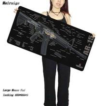 Mairuige Simple Design Speed Gun parts Game Black MousePads Computer Gaming Mouse Pad For CSGO Gamer Play Mats Version Mousepad