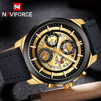 Men Watchs NAVIFORCE Top Brand Luxury Fashion Men Quartz Gold Watches Male Leather Army Military Sport Watches Relogio Masculino
