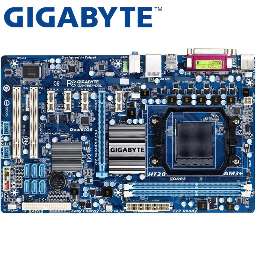 GIGABYTE GA-780T-D3L carte mère de bureau 760G Socket AM3 + DDR3 16G ATX pour AMF FX/Phenom II/Athlon II Original utilisé