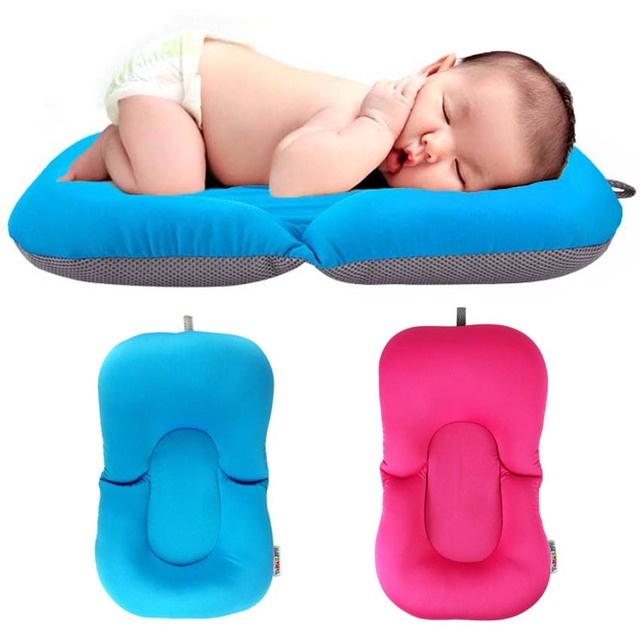Baby Portable Air Cushion Bed Elastic Fabric Baby Tubs Mattress Pillow Pad Lounger Cushion Floating Soft Seat Infant Mat 0-12M