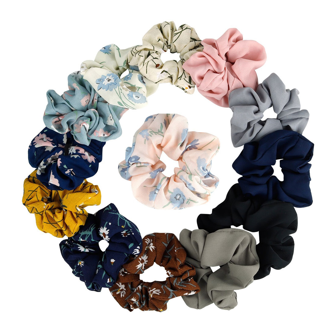 Hair Scrunchies Ponytail Holder Soft Stretchy Hair Ties Vintage Elastics Hair Bands for Girls Accessories Fancy hair tie in Women 39 s Hair Accessories from Apparel Accessories