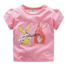 baby girls  t shirts summer fashion cotton kids short sleeves shirt hot selling child