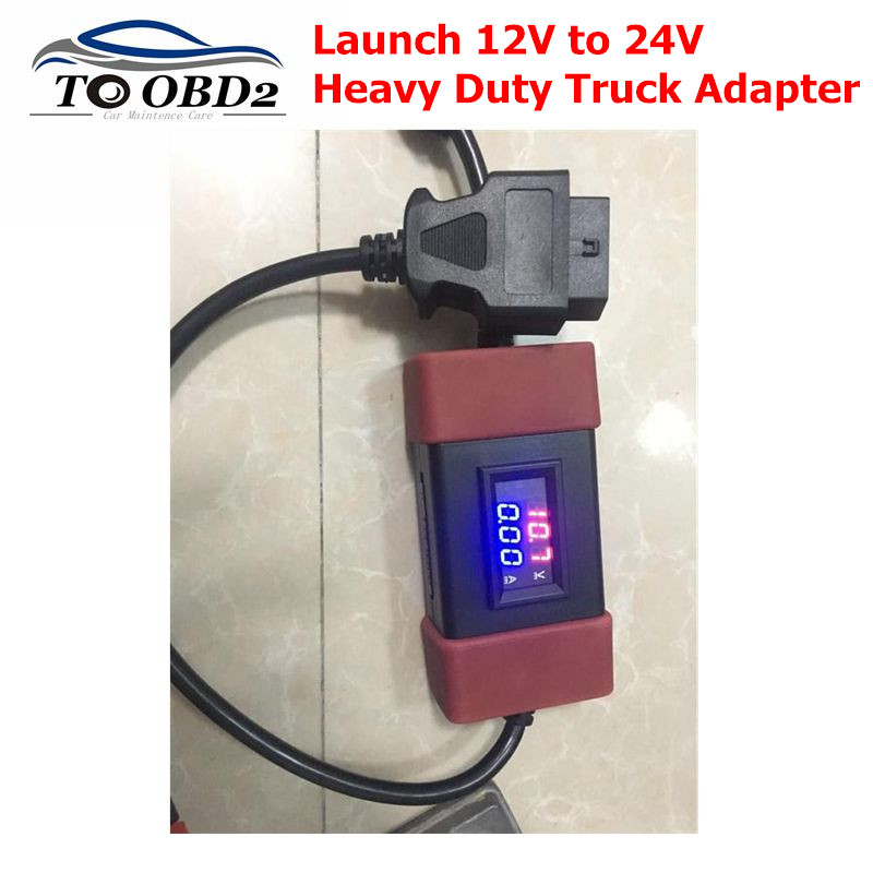 2019 Launch 12V to 24V Adapter Launch Heavy Duty Truck Diesel Adapter Cable for X431 Easydiag2