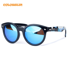 COLOSSEIN Sports Sunglasses Women Round Plastic Hot Summer Classic Fashion Camouflage Frame Polarized Eyewear New Trendy