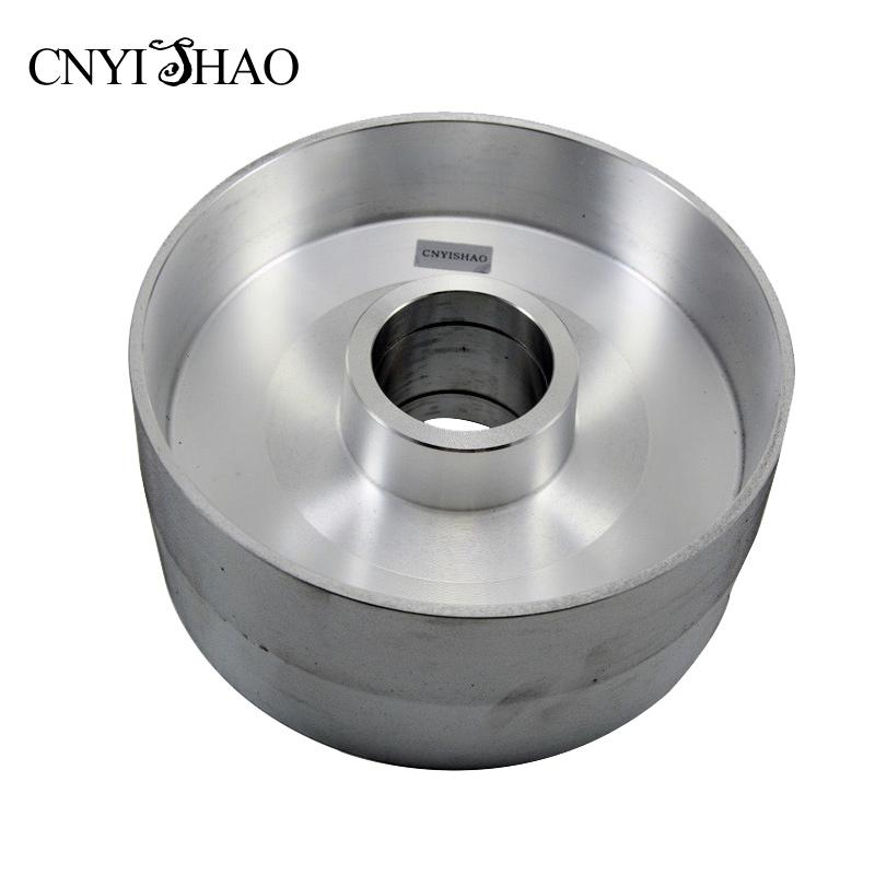 CNYISHAO Aluminum Fine Polishing Wheel 225*100mm Contact Wheel Abrasive Belt Set for Angle Grinder and Belt Sander 8 inch 50mm thickness serrated rubber contact wheel belt sander polishing wheel abrasive belts set