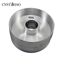 CNYISHAO Aluminum Fine Polishing Wheel 225*100mm Contact Wheel Abrasive Belt Set for Angle Grinder and Belt Sander