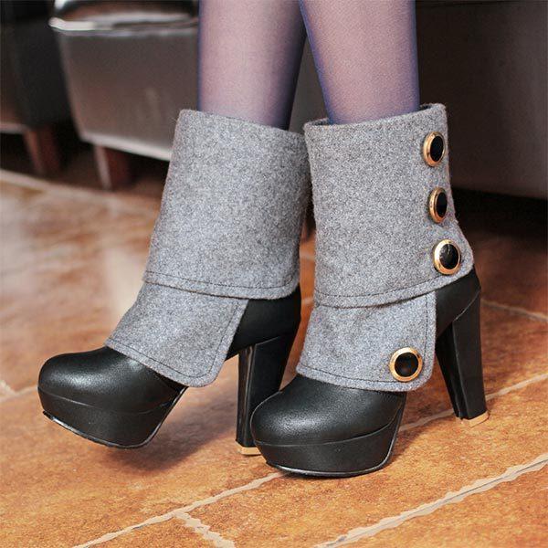 Zapatos con botones para mujer JilK4ibuWC