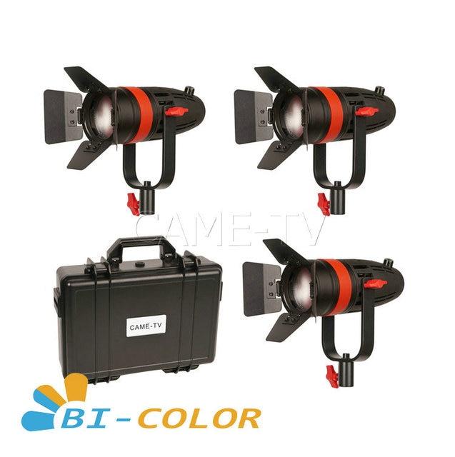 3 قطعة CAME TV بولتزن 55 واط فريسنل فوكوسابل LED ثنائي اللون عدة Led الفيديو الضوئي