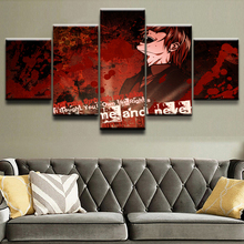 Canvas Painting Wall Pictures 5 Panel Anime Death Note Character Poster For Living Room Home Decor Abstract Painting On Canvas death note anime character figures 8 piece set