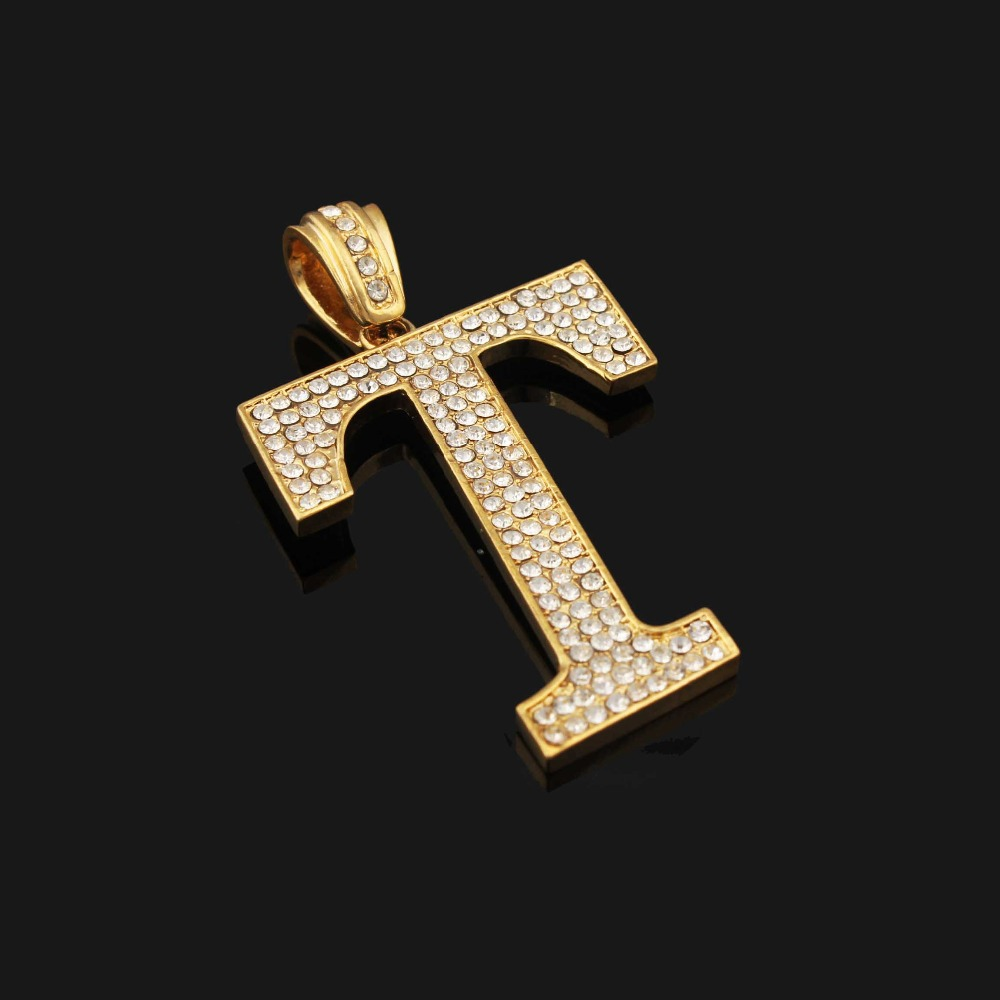 white pendant necklace t letter necklaces diamond initial gold